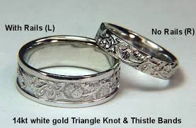 scottish wedding rings celtic thistle knot wedding rings by designet best prices