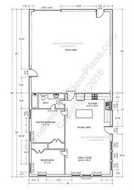 Shop Floor Plans Metal Shop Buildings With Living Quarters Google Search