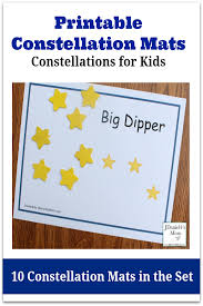 constellations for kids printable constellation mats