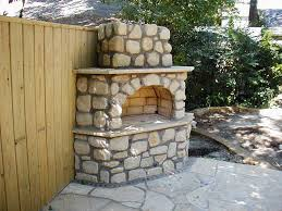 Outdoor Fieldstone Fireplace - simple outdoor fireplace plans design remodeling u0026 decorating ideas