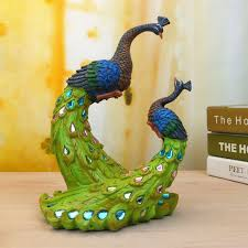 Home Decoration Gifts Painted Peacock Wedding Gifts Unique Delicate Home Decor