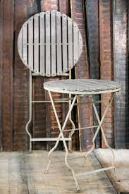 Folding Bistro Table And 2 Chairs Vintage French Folding Wood And Iron Bistro Tables Circa 1920 For