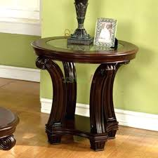 dark wood accent tables dark wood end tables round living room end tables round end table