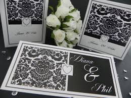 damask wedding invitations black damask luxury wedding invitations stationery 1 59