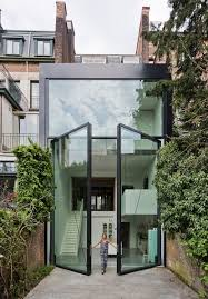 antwerp townhouse with giant pivoting windows home design vn