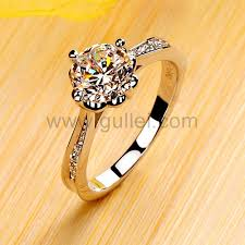 Ring With Name Engraved 1 2 Carat Nscd Diamond Platinum Plated Women Ring With Name