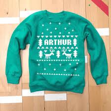 personalised fair isle christmas sweatshirt christmas jumpers