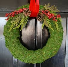 decorative wreath with moss wreath home design by john