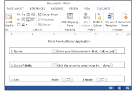 design form in word word master class how to make custom interactive forms pcworld