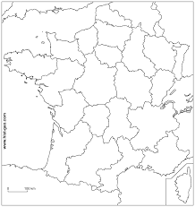 Blank Maps Of Asia by France Blank Map With French Regions