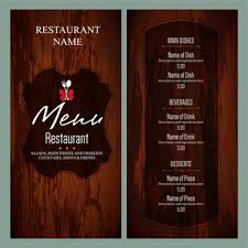 drink menu template free restaurant free vector 860 free vector for commercial