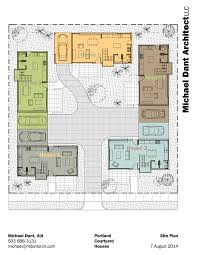 courtyard plans home architecture luxury modern courtyard house plan custom