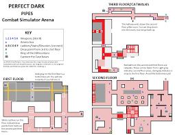 key arena floor plan perfect dark pipes map for nintendo 64 by silverpolaris gamefaqs
