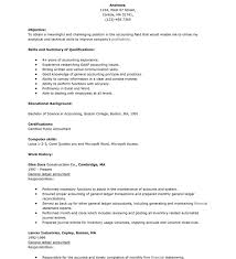 Objective For Accounting Resume Sample Accounting Resume Skills Accounting Resume Objective 18