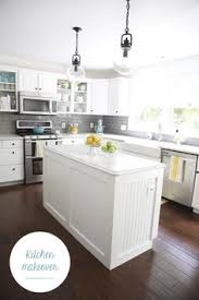 Gray And White Kitchen Cabinets Kitchen With Gray Subway Tiles Transitional Kitchen Sicora