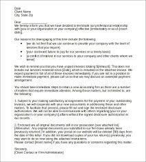 sample termination letters 8 termination of services letters