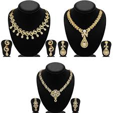 fashion jewelry necklace sets images Necklace set combo by sukkhi jewellery combos homeshop18 jpg