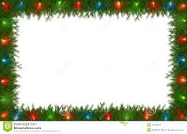 Christmas Garland With Lights by Christmas Lights With Pine Border Stock Photography Image 21792212
