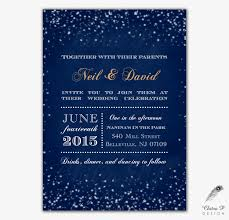 starry night wedding invitation printed chalkboard