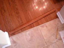 Floor Transition Ideas Tile And Wood Floor Transition With Transitions Between Kitchen