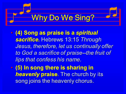 why do we sing ppt