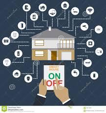 Design Home Network System Illustration Of Centralized Network System Stock Illustration