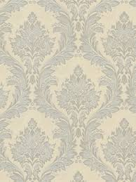 mercutio silver damask wallpaper blue silver cream neutral