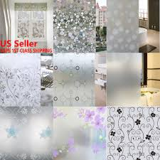 waterproof frosted privacy home bathroom window glass self