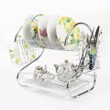 kitchen kitchen chrome plated dish dry rack plate and cutlery