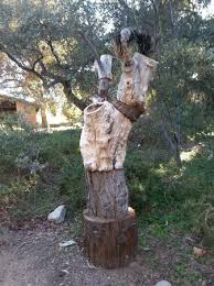 Santa Ana Botanic Garden by Art Work Made Of Different Tree Trunks Picture Of Rancho Santa