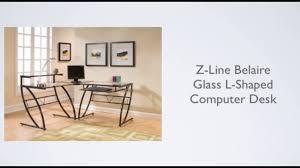 Z Line Belaire Glass L Shaped Computer Desk Z Line Belaire Glass L Shaped Computer Desk Review