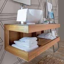 mobile bagno grezzo arredi bagno in teak idea creativa della casa e dell interior design