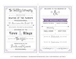 wedding invitation program diy wedding invitations free templates luxury free wedding program