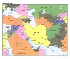 middle east map and capitals map of countries in western asia and the middle east nations