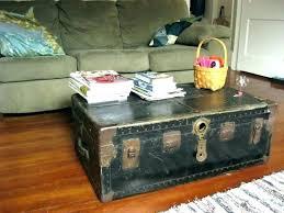 trunk coffee table diy luggage coffee table peekapp co
