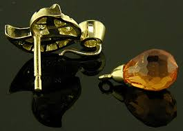 detachable earrings spessartite garnet and diamond earrings in 18kt gold bijoux