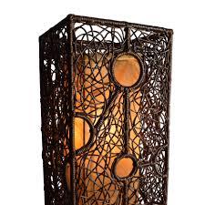 Floor Hand by 67 Off Brown Wicker Column Floor Lamp Decor