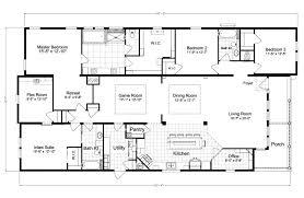5 bedroom 3 bath floor plans uncategorized 5 bedroom mobile home plan surprising within