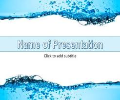 Water Powerpoint Templates by сlean Water Powerpoint Templates