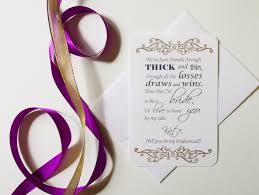 asking bridesmaids poems bridesmaid card 1 paper melody s