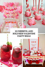 22 cheerful and bold kids u0027 valentine party ideas shelterness