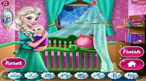 frozen elsa disney frozens baby room decor videos games for kids