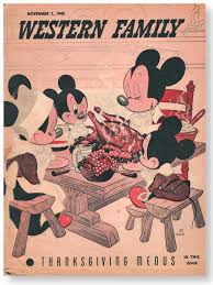 happy thanksgiving from walt mickey minnie mortie ferdie