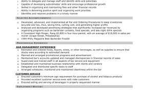 resume stunning design bartending resumes 8 resume bar server