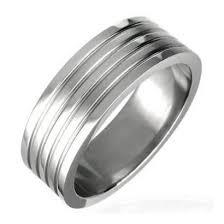 alliance pour homme bague anneau alliance pour homme acier inoxydable 5 lignes argenté