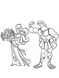hercules coloring page hercules smother megara with flower coloring pages bulk color