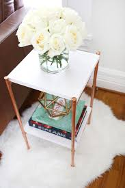 copper pipe side table diy u2013 a beautiful mess