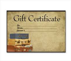 travel gift certificates 7 travel gift certificate templates free sle exle