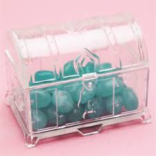Treasure Chest Favors by Clear Treasure Chest Favor Box 12 Pcs Clear Frosted Favor