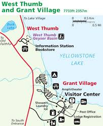 Yellowstone Lodging Map Yellowstone National Park Maplets